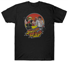 SWEEP THE LEG T SHIRT KARATE KID FILM MOVIE Short Sleeve Discount 100 % Cotton T-Shirts Men T-Shirt Cotton 100% Top Tee(China)