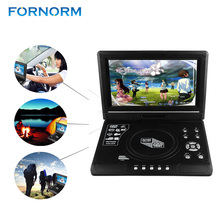 FORNORM 9.8 inch LCD Display DVD Player 270 Degree Totatable Swivel Screen CD Portable DVD Game Player SVCD CD-R/RW MP3 MP4(China)