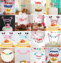 JOY-ENLIFE 1set Happy Birthday Cake Toppers baby shower party decoration party favor for kids birthday party supplies