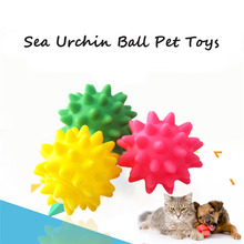 lovely Pet 1 Pc Rubber Pet Toy Sea Urchin Ball Reflected Sound Toys Pet Dog Bite Toys Accessories New drop shipping 70703