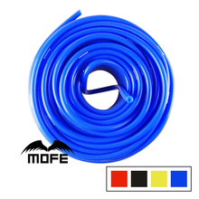 MOFE 100% new arrived universal Racing car 10Meter 4mm Silicone Vacuum Tube Hose Color Red Black Blue Yellow
