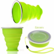 New Portable Water Bottle Silicone Outdoor Foldable Travel Drinking Bottles Tableware(China)