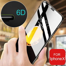 Buy 6D Curved Soft Edge Full Cover Tempered Glass iPhone 7 X Screen Protector film iphone 6 6s 7 8 Plus Tempered Glass Film for $2.99 in AliExpress store