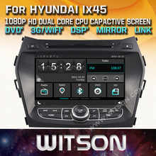 WITSON CAR DVD GPS for HYUNDAI IX45/SANTA FE New Technology+Capctive Screen+1080P+DSP+WiFi+3G+DVR+Good Price+Free shipping