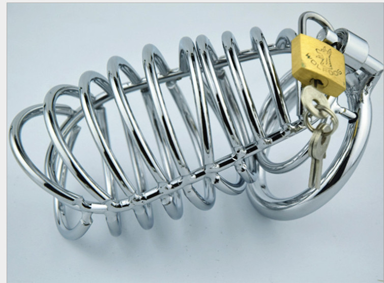 Chastity lock Stainless Steel Male Chastity Device Cock Cage Penis Lock <br>