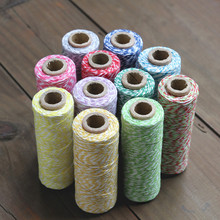 5pcs/lot Cotton Divine Bakers Twine-110yard/Spool Assorted Color Gift Wrapping Supply Bakers Twine Free Shipping(China)
