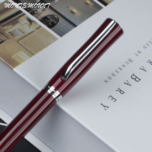 MONTE MOUNT Red dates and silver Bay Clip Ballpoint Pen with original fashion gift pen Executive good quality pen