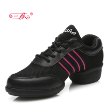 latest models sasha genuine Full Grain Leather  mesh Modern  Dance shoes Sneakers for woman T08