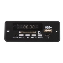 MP3 Decoder Board Red Digital Display LED USB TF Wireless Communication Module Wireless Audio Module Car Remote Control