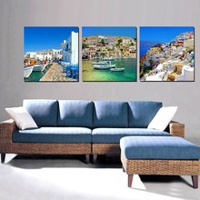 3 Piece Nice Mediterranean Scenery Painting Modern Home Living Room Wall Decoration Artwork HD Print Picture Canvas Unframed