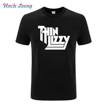 2016 New Heavy Metal Rock Band Thin Lizzy Printed T Shirt Men Tops Music Pop Men T-shirt Short Sleeve O-neck Tops XS-XXL