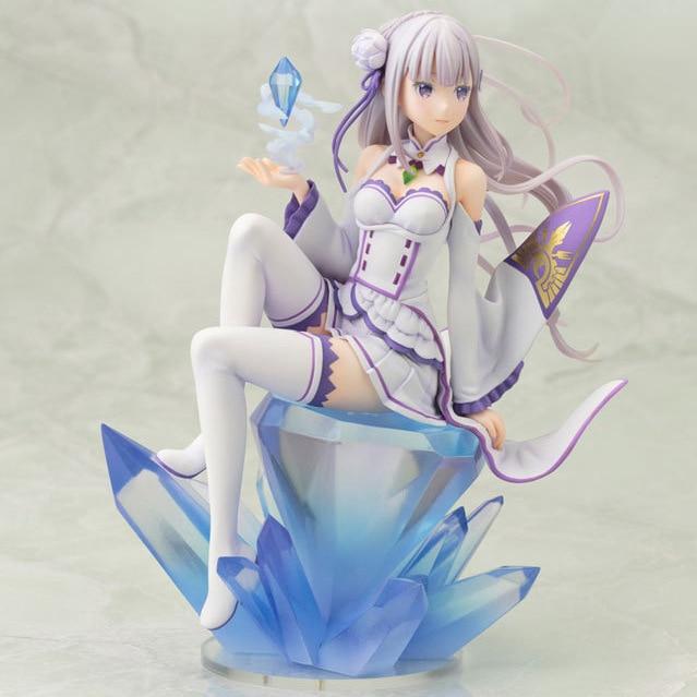 18cm Emilia Zero kara Hajimeru Isekai Seikatsu Action figure toys doll collection Christmas gift with box<br><br>Aliexpress