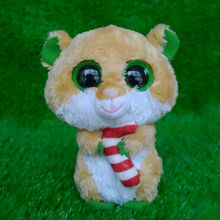 big eyes Candy Cane Hamster soft toy