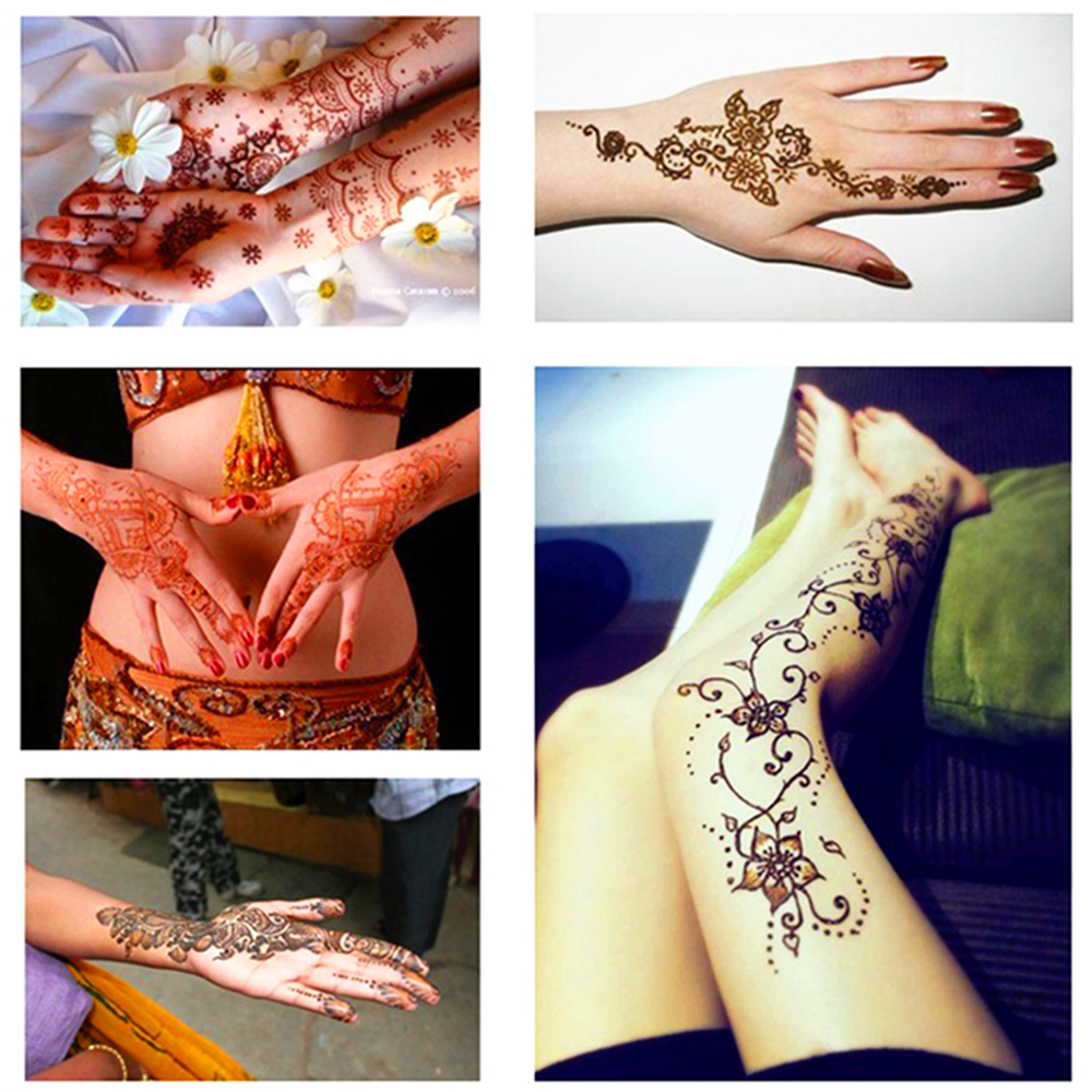 Women Fashion Mehndi Henna Cone Indian Wedding Temporary Tattoo Makeup Tool Waterproof 100% Safe 8