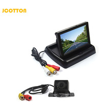 JCOTTON 4.3 Inch Foldable TFT LCD Car Monitor Review for rear view camera Back Up Color Camera display screen parking monitor(China)