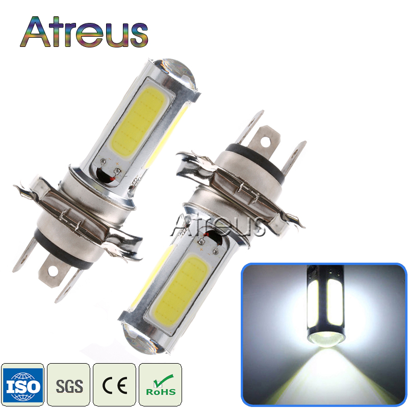 2Pcs Car LED H4 COB 25W 51 LED Turn Signals White Lamp Motor Indicator Bulb Fog lights 12V DRL with lens automobiles accessories<br><br>Aliexpress