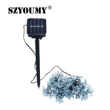SZYOUMY Solar String Lights 50 Led Peach Flower Fairy Light Christmas Lights for Outdoor LED Garland Patio Party Wedding Decor