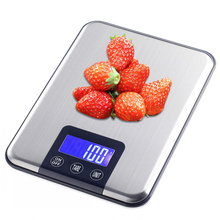 Household Kitchen Scale 15kg/1g Baking Cooking Tools Food Diet Electronic Postal Balance Weigh LCD Digital Weight Scales(China)