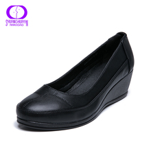AIMEIGAO (High) 저 (Quality PU 캐주얼 펌프 Women Shoes 편안한 (High) 저 (웨지 가 봄 Summer Basic Style Shoes 대 한 Women(China)
