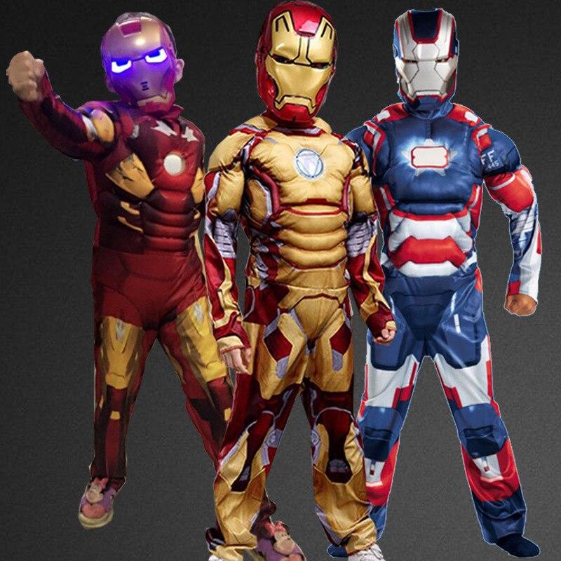 Muscle Child Superhero Halloween Costume Kids Fantasy Fancy Dress Avengers Superhero Carnival Party Disfrace<br><br>Aliexpress