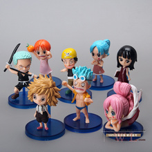 Anime One Piece Zoro Shirahoshi Usopp Nefeltari Vivi Nami Robin Franky Mini PVC Action Figures Model Toys Dolls 8pcs/set OPFG316