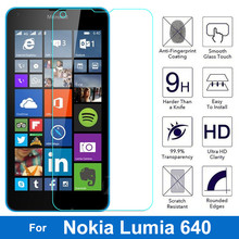 "Tempered Glass for Microsoft Lumia 640 LTE Dual SIM 5.0"" Screen Protector Protective Glass Film for Nokia Lumia 640 5.0 inches(China)"