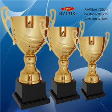 RZ -1318  Gold Plated Metal Trophy Winners Cup  Football trophies     sport  award cup   souvenir