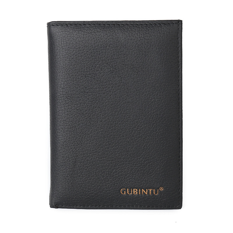 New Cowhide Leather Men Middle Long Wallets Black Color Credit Card Holder Drivers License Passport Pocket Coin Purse ID Wallet<br><br>Aliexpress