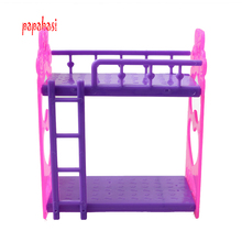 Kid's play house toys Doll Accessories Handmade Doll's Plastic bunk bed For Barbie Dolls/Kali dolls(China)