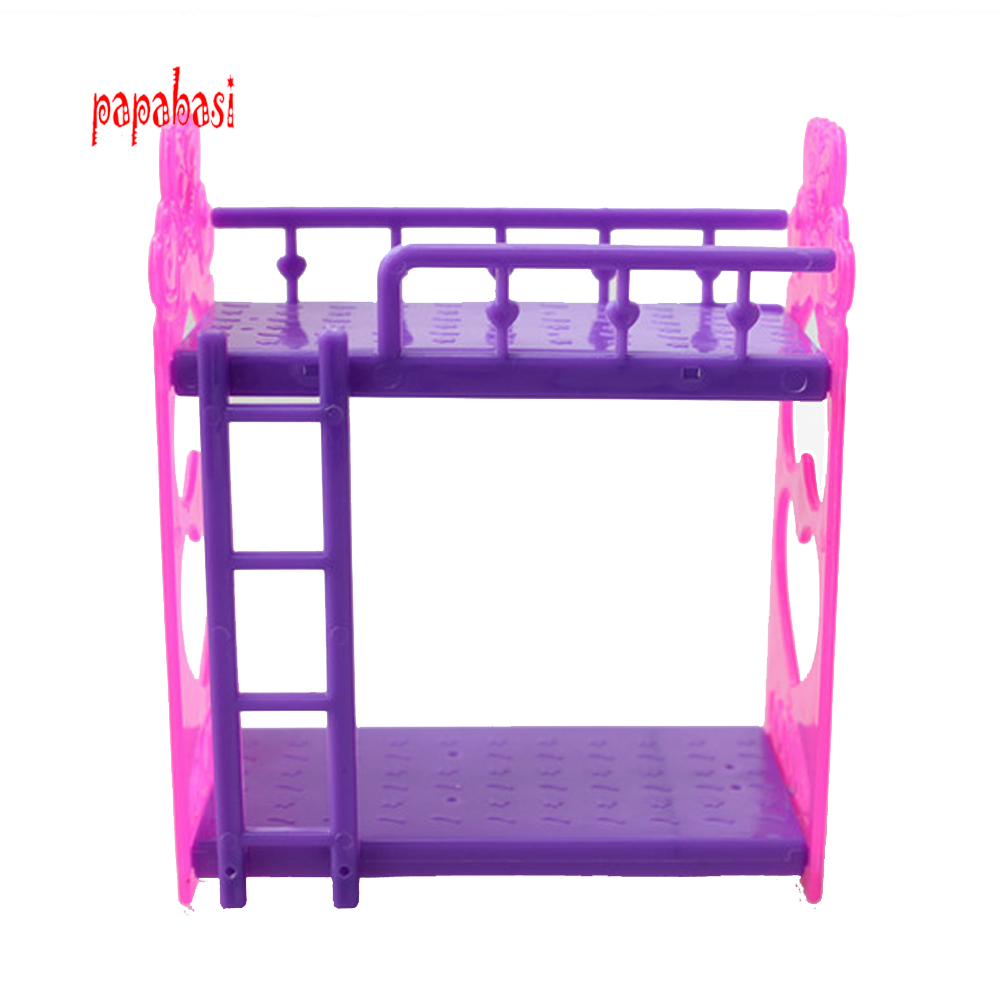 Kid's play house toys Doll Accessories Handmade Doll's Plastic bunk bed For Barbie Dolls/Kali dolls(China (Mainland))