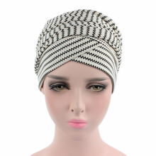 EMS OR DHL 120PCS New Stretch Cotton Headband Long Tail Hat Headdress Baotou Scarf Cap TJM-216 Hair Accessories