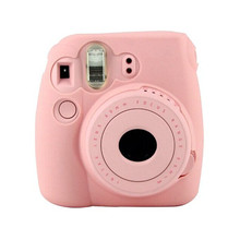 2017 Casual Classic Noctilucent Camera Skin Cover Case for FUJIFILM Instax Mini8 Mini8s Camera bag Pink Back Cover Coque Capa(China)