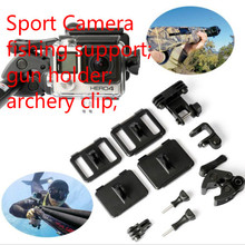 Sport Camera Fishing Support  Gun Holder Archery Clip  for Gopro Hero4 Hero3 Session Hero5 Sj2000 Sj3000 Sj4000 Sj5000 Xiaoyi