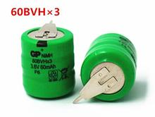 battery 60BVHx3 3.6V 60mah Ni-MH Rechargeable battery GP60BVH Nickel metal hydride rechargeable batteries leg foot feet 5pcs/lot(China)