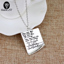 Wholesale Greys Anatomy Quote Grey Handwriting Letter Necklace women men simple necklace maxi Charms Pendant jewelry(China)