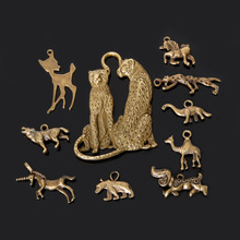 New Design Bronze Plated Zinc Alloy Wolf Dog Dinosaur Camel Charms Necklace Pendant DIY Jewelry Accessories 10 Style Selection