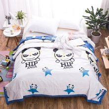 Cartoon 100% Cotton Thin Summer Quilt  Blue Stitching Duvet Comforter 150x200cm180x200cm  200x230cm Quilted Blanket