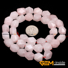 9x11mm cubic faced Rose Quart z quartz beads natural stone beads DIY loose beads for jewelry making strand 15 inches DIY !(China)