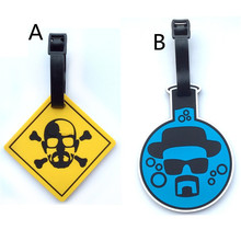 Fashion Breaking Bad Suitcase Luggage Tag Walter White ID Address Holder Baggage Label Silica gel Identify Travel Accessories