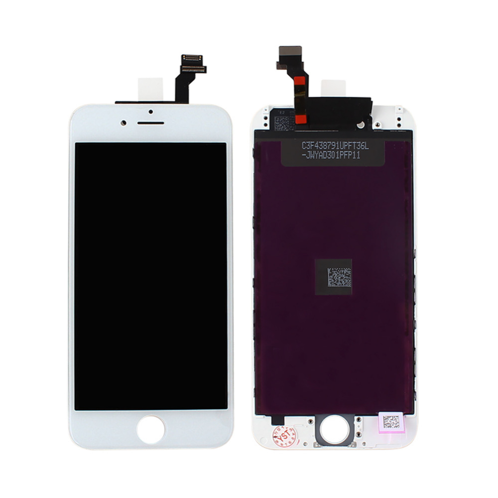 "For iPhone 6 4.7"" cell phone White LCD Display + Touch Screen Digitizer Replacement Repair Frame Assembly New 100%(China (Mainland))"