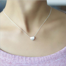 Aestheticism Heart-shaped Love Drawing Silver Romantic Simple Jewelry Popular Pendant Necklace H79(China)