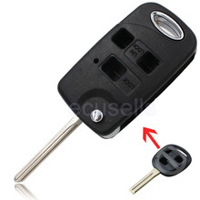 For Lexus IS200 GS300 LS400 RX300 3 Buttons CONVERSION Flip Remote Key Fob Case shell
