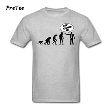 STOP FOLLOWING ME MONKEY T Shirt Men's Pure Cotton Short Sleeve O Neck Tshirt Teens Costume 2017 Funny Picture T-shirt For Men