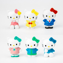 2017 Hot 6pcs/lot Kawaii Hello Kitty PVC Action Figure Model Toys For Kids House Decoration(China)
