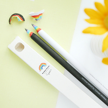 South Korea Stationery Rainbow Hb Pencil Black And White South Korean Students Creative Writing Pencil School Office Supplies