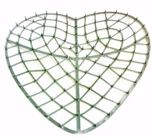 5 Pieces 34cm Heart Shape Artificial Plastic Frame For Grass Flower Lawn Making DIY Project Wedding Party Decoration