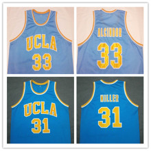 LEW ALCINDOR REGGIE MILLER UCLA Bruins Blue Basketball Jersey Embroidery Stitched Customize any size and name