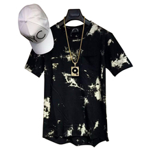 Man Si Tun 2017 balm Hip Hop StreetWear T shirt tie dye Tops Tee Extended side zipper Tee Men Swag urban Clothing kanye west hba(China)