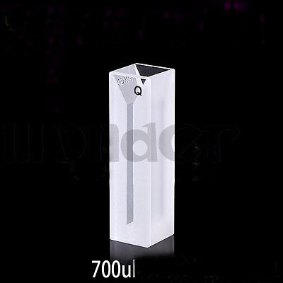 700ul 2mm Inside Width Micro JGS1 Quartz Cuvette Cell With Frosted Walls And Lid<br>