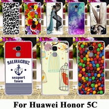 Soft TPU Plastic Painted Moblie Phone Cover Cases For Huawei Honor 5C GT3 Honor 7 Lite Honor5C Honor7 Lite 5.2 inch Cases Covers